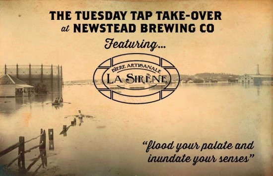 La Sirène Tap Take-Over at Newstead Today!