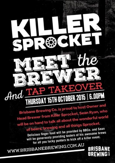 Attack of the Killer Sproket @ Brisbane Brewing Co Tonight!